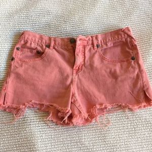 Free People Pink Cut off Shorts size 29